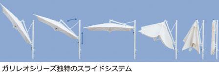 ガリレオシリーズ独特のスライドシステム